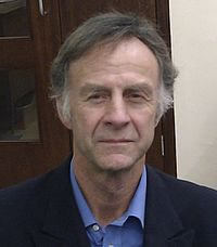 "Sir Ranulph before presenting to Cambridge University ""Enterprise Tuesday"""