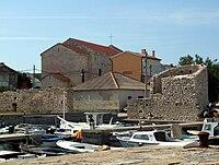 Razanac - city walls and harbour.jpg