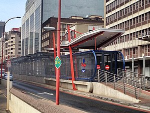 Transportation in Johannesburg - Rea Vaya station
