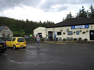 A82 road - The Real Food Cafe, just off the A82 in Tyndrum