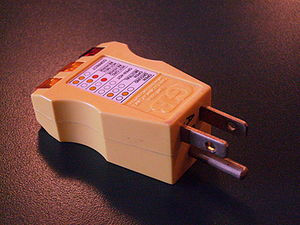 Receptacle tester - A receptacle tester for North American wiring