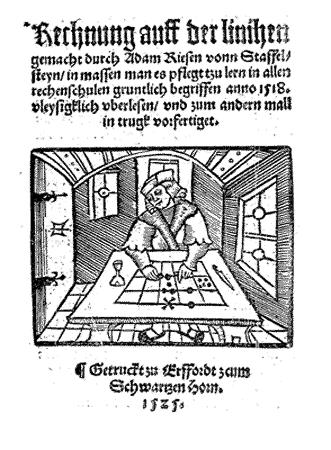 Rechnung auff der linihen 1525 Adam Ries