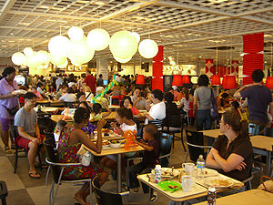 The cafeteria of the Ikea store in Red Hook, B...