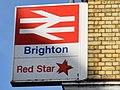 Red Star Parcels signage at Brighton Station.jpg