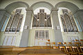 Reformierte Kirche Wattwil main section of the organ on the 1st floor.jpg