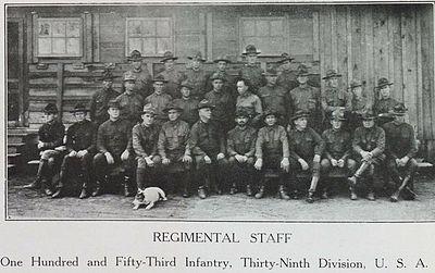 Regimental Staff, 153rd Infantry, 1918