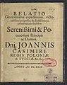 Relatio gloriosissimae expeditionis, victoriosissimi progressus et faustissimae pacificationis cum hostibus serenissimi et potentissimi principis et domini, domini Joannis Casimiri post 20 VIII 1649 (96698591).jpg