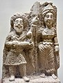 Relief of goddess Al-Lat and a male god. From Hatra, Iraq Museum.jpg