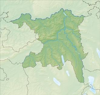 Reliefkarte Aargau blank