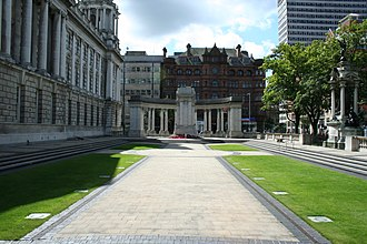 Belfast City Hall - Garden of Remembrance and The Cenotaph in Belfast