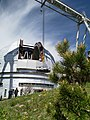 Removal of the old mirror from the large azimuth telescope dome.jpg