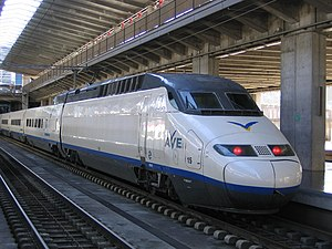 Renfe Operadora - AVE Class 100 train at Córdoba station.