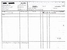 9e79239eb8 Extrait de registre de résidence concernant un travailleur forcé polonais  assigné à la société.