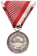Reverse of the Silver Medal For Bravery (Austria-Hungary) during the reign of Franz Joseph I.jpg