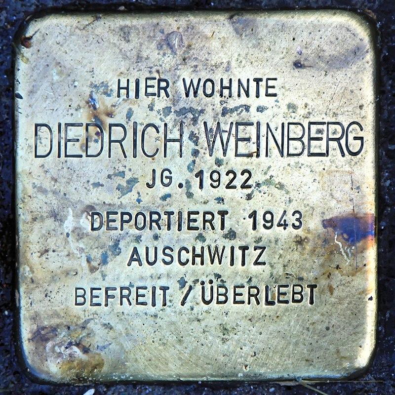 Rhauderfehn - Untenende - 74 - Stolpersteine Weinberg, Diedrich 01 ies