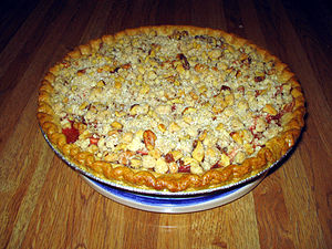 Rhubarb-apple pie.