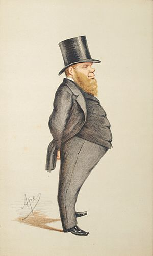 Richard Dowse - Caricature by Ape published in Vanity Fair in 1871.