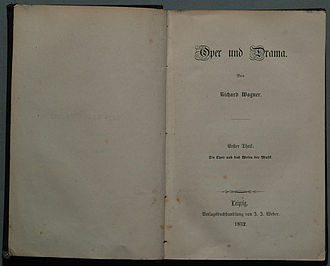 Der Ring des Nibelungen: Composition of the poem - The title page of Oper und Drama