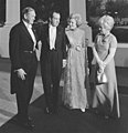 Richard and Pat Nixon greet John and Bettina Gorton.jpg