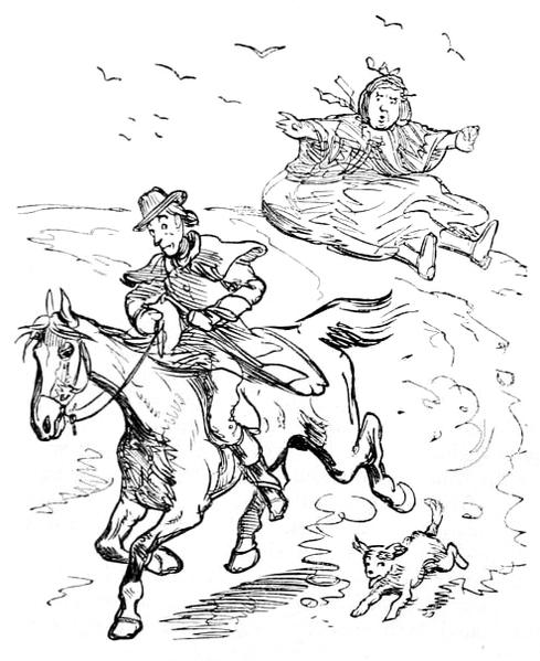 Pillion horse