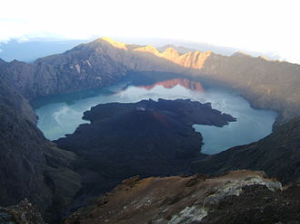 Mount Rinjani - Segara Anak, the volcanic crater on the summit of Rinjani.