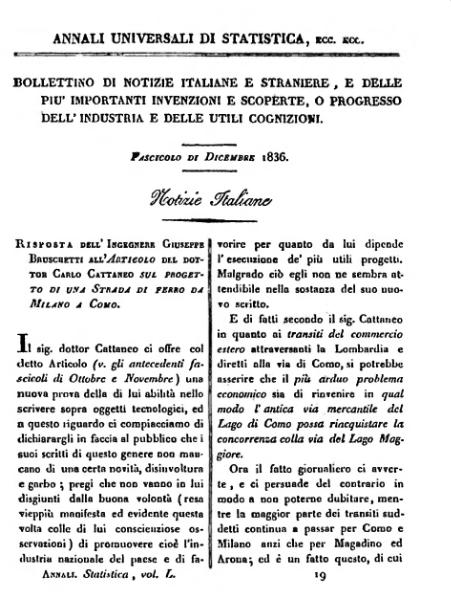 File:Risposta dell'Ingegnere Giuseppe Bruschetti all'articolo del dottor Carlo Cattaneo.djvu