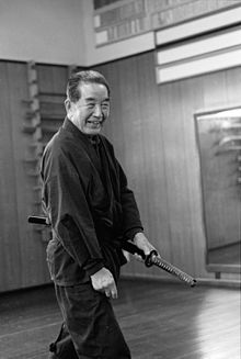 A picture at his dojo.