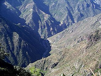 Copper Canyon - The road to Batopilas descends into Copper Canyon.
