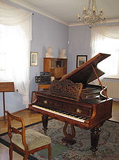 Schumann's music room in Zwickau (Source: Wikimedia)