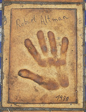 Robert Altman - Altman's handprints outside Palais des Festivals et des Congrès in Cannes, France