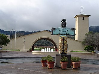 California wine - The Robert Mondavi Winery was designed to reflect the winemaking history of the Spanish missions.