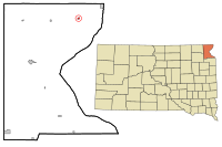 Roberts County South Dakota Incorporated and Unincorporated areas Rosholt Highlighted.svg