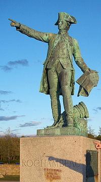 Rochambeau statue, Newport, Rhode Island, USA.JPG