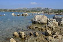 Rocce di granito sull'isola di Caprera.