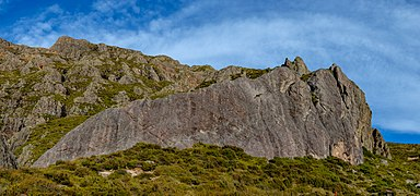 Rock formation in Hakatere Conservation Park, New Zealand.jpg
