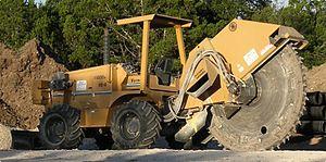 Trencher (machine) - A rockwheel