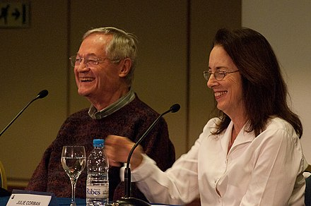 Roger Corman and his wife Julie at Sitges Film Festival in 2010 Roger Corman and Julie Corman, 2010 01.jpg