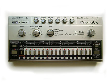A Roland TR-606 drum machine, the model Albini used to create Big Black's drum sound. Roland TR-606.jpg