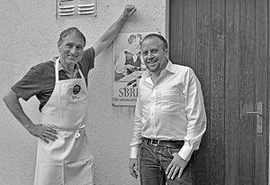 Rolf Beeler - Maitre Fromager Rolf Beeler and his Australia/New Zealand importer Tom Merkli