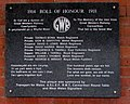 Roll of Honour on the wall of Carmarthen railway station platform 1 (geograph 6211496).jpg
