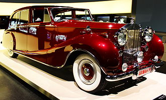 Luxury vehicle - A Rolls-Royce model Phantom IV, a 1950s luxury car