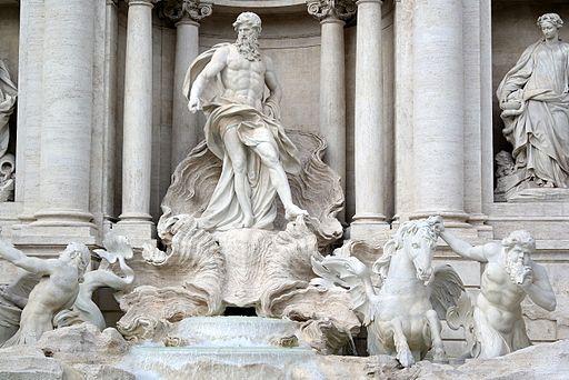 Roma - Fontana di Trevi dettagli