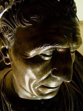 Trajan's Parthian campaign - Bronze bust of Trajan in his later years, Museum of Anatolian Civilizations, Ankara, Turkey
