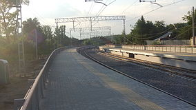 Romashkovo railway platform (view to platforms from south).JPG