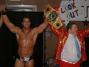 Romeo Roselli - Roselli as the NEPW Heavyweight Champion in August 2007.
