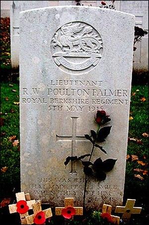 Ronald Poulton - Ronald Poulton-Palmer's grave
