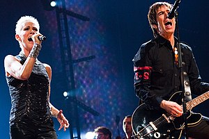Roxette live on stage during 'Night of the Pro...