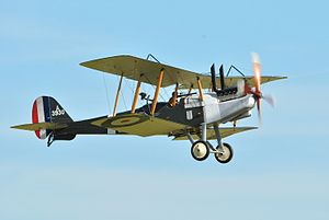 Capture of Wytschaete - An example of a Royal Aircraft Factory R.E.8, the standard British reconnaissance and artillery-observation aircraft from mid-1917. (Duxford Airshow 2012)