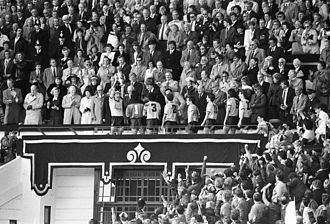 Wembley Stadium (1923) - The Royal Box in April 1986.
