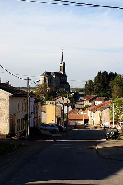 Rue Saint-Éloi, Flastroff, Moselle, France